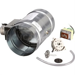 "6"" Universal Automatic Make-Up Air Damper with Pressure Sensor Kit - MD6TU"