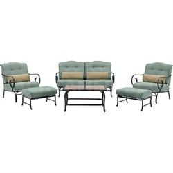 Oceana 6-Piece Seating Set in Ocean Blue - OCEANA6PC-TL-BLU