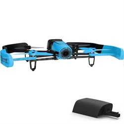 BeBop Drone 14MP Full HD 1080p Fisheye Camera Quadcopter (Blue) w/ Extra Battery