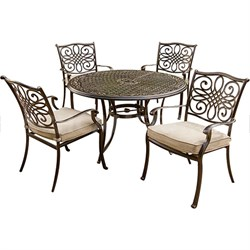 Traditions 5 Piece Deep Cushioned Outdoor Dining Set - TRADITIONS5PC