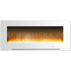 56  Wall Mount Electric Fireplace with Crystals