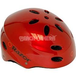 V17 Youth Ages 8 - 14 Helmet  - Lucid Red