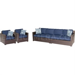 Metropolitan 4-Piece Seating Group in Navy Blue - METRO4PC-B-NVY