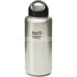 K40WSSL - 40oz Kanteen Wide (w/stainless loop cap) - Brushed Stainless