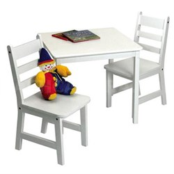 Child's Table Chair Set White