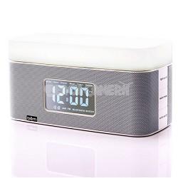 Sunrise Bedside Speaker Clock with Light (White) - BEMSCW