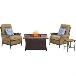 Hudson Square Fire Pit Chat Set - HUDSQ3PCFP-WG