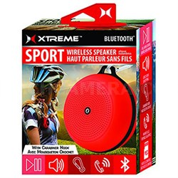 Sport Wireless Bluetooth Speaker with Carabiner Hook - Red (XBS9-1009-RED)
