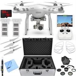 Phantom 3 Advanced Quadcopter Drone with 2.7K Camera Essential Accessory Bundle