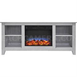 62.8 x15.2 x26.5  Santa Monica Fireplace Mantel with LED Insert