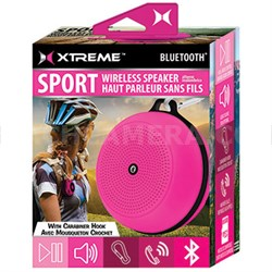 Sport Wireless Bluetooth Speaker with Carabiner Hook - Pink (XBS9-1009-PNK)