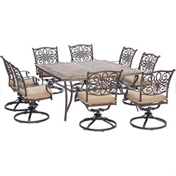 Traditions 9-Piece Square Dining Set - TRADDN9PCSWSQ-8