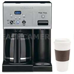 CHW-12 Coffee +12-Cup Programmable Coffeemaker w/ Hot Water System, Black + Mug