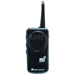 HH50 Civil Hand-held Pocket Weather Alert Radio with Scan in Clam Shell (Black)