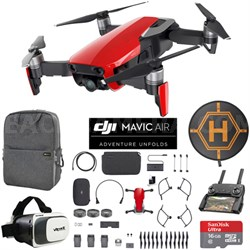 Mavic Air Fly More Combo Flame Red Drone Mobile Go Case VR Goggles Landing Pad