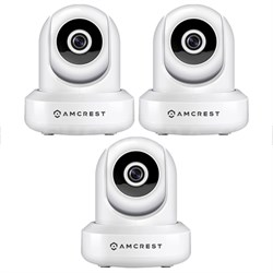 3-Pack ProHD 1080P (1920TVL) 30FPS Wireless WiFi IP Camera - White