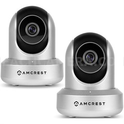 2-Pack 720P HD POE Wi-Fi IP Security Surveillance Camera System (Silver) IPM721S