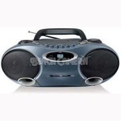 CD MP3 Boombox with Cassette Player and AM/FM Radio (MP4907BK)