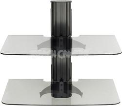 VF2012 - Vertical A/V Series Single Column, 2-shelf on-wall component shelving