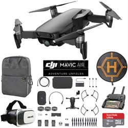 Mavic Air Fly More Combo Onyx Black Drone Mobile Go Case VR Goggles Landing Pad