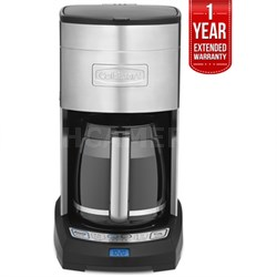 Extreme Brew 12-Cup Coffee Maker, Silver Refurbished + 1 Year Warranty
