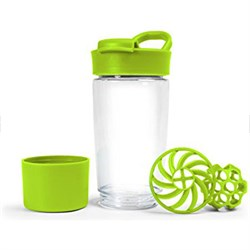 Tritan Protein Shaker Bottle with Container - 2 Pack (Green)