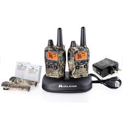 T75VP3 36 Channel/38 Mile Two Way Radio with 121 codes, W/X Scan-Alert