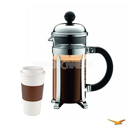 Chambord 3 cup 12 oz Chrome French Press Coffee Maker - Kit