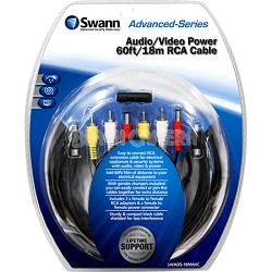 Audio / Video Power 60ft / 18m RCA Cable