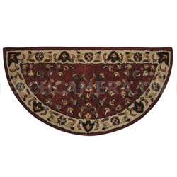 UF Red with Beigh Hearth Rug