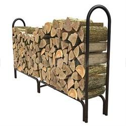 8-Feet Deluxe Outdoor Log Rack in Black - 15204