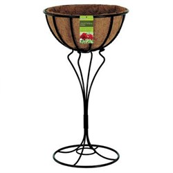 """Blacksmith Jardiniere with Coco Liner 16"""" Wide x 28.75"""" High - R971"""