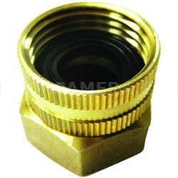 Dual Swivel Brass Connector for Garden Hose to Pipe End (SPX-BSC)