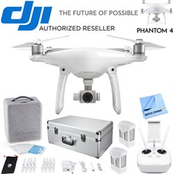 Phantom 4 Quadcopter Drone Bundle with Extra Battery + Aluminum Case