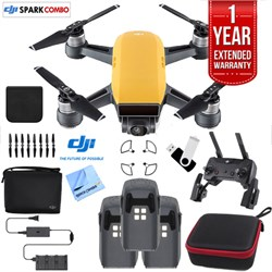 SPARK Fly More Drone Combo Sunrise Yellow - CP.PT.000900 Triple Battery Bundle