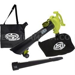 14-Amp High Performance 3-in-1 Electric Blower, Vacuum, & Mulcher w/ Accessories
