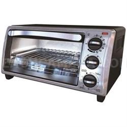 Black and Decker 4-Slice Bezel Toaster Oven - Black - TO1313SBD