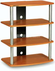 SF-4A Audio/Video Component Rack (Light Cherry) w/ Silver Steel Posts