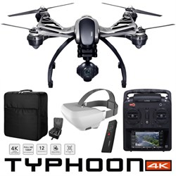 Typhoon 4K Q500 Quadcopter Drone Wizard Wand SkyView Headset Backpack Pro Bundle