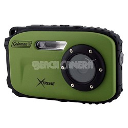 Xtreme C5WP 12MP 33ft. Waterproof Camera, Anti-Shake, Face Detection (Green)