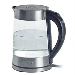 1.8 Quart Electric Glass Water Kettle in Gray - GWK-02