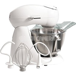 Eclectrics Sugar All-Metal Stand Mixer (White)