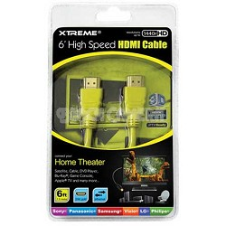 High-Speed Full HD 1080p HDMI Cable with Ethernet Yellow 6 ft.