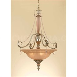 Elements Serena Pendant 4-60W Candle Bulbs 32 HX23 D Hardwire Only