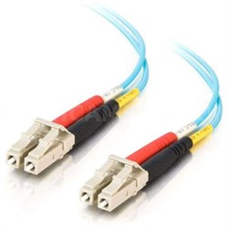 1m LC-LC 10Gb 50/125 Duplex Multimode OM3 Fiber Cable - Aqua PVC - 33045