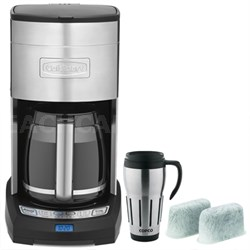 Extreme Brew 12-Cup Coffee Maker, Silver - Refurbished with Travel Mug
