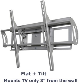 Flat + Tilt Smart Mount for select Large Flat Panel TVs (Silver) - OPEN BOX