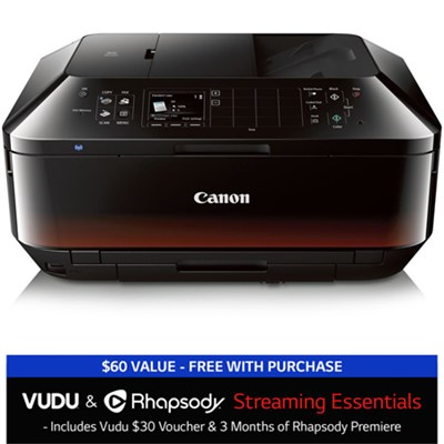 PIXMA MX922 Wireless Inkjet Office All-In-One Printer w/ Vudu + Rhapsody Bundle