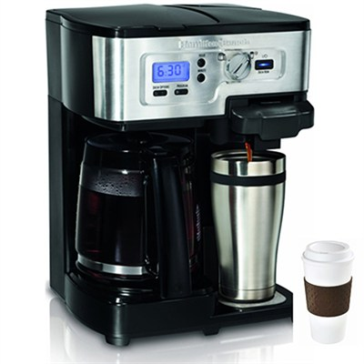2-Way FlexBrew 12-Cup Coffeemaker, Factory Refurbished + Copco To Go Cup Bundle