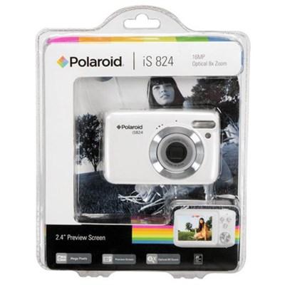 Polaroid 16MP 8x Optical Zoom - White (IS824-WHT)